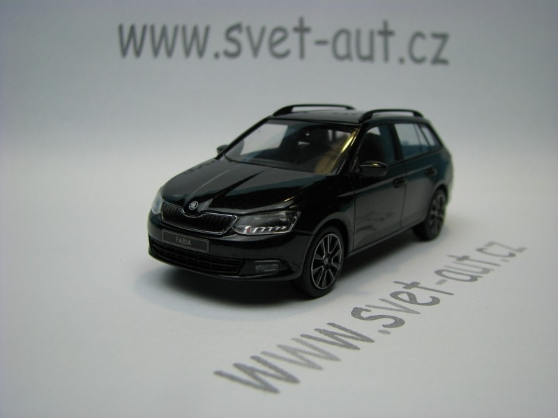 Škoda Fabia III Combi Magic Black 1:43 i-Scale